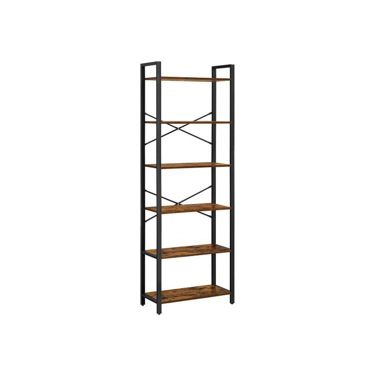 6-Tier Bookshelf with Steel Frame