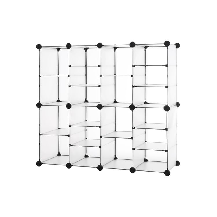 White Plastic Cube Storage Shoe Organizer
