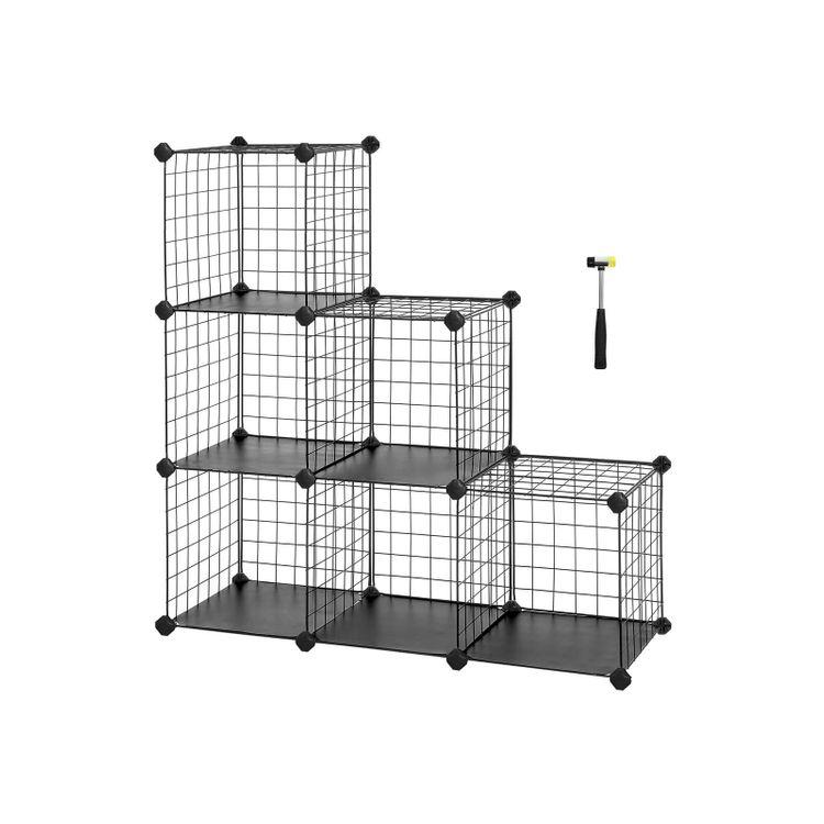 Black Metal Wire Cube