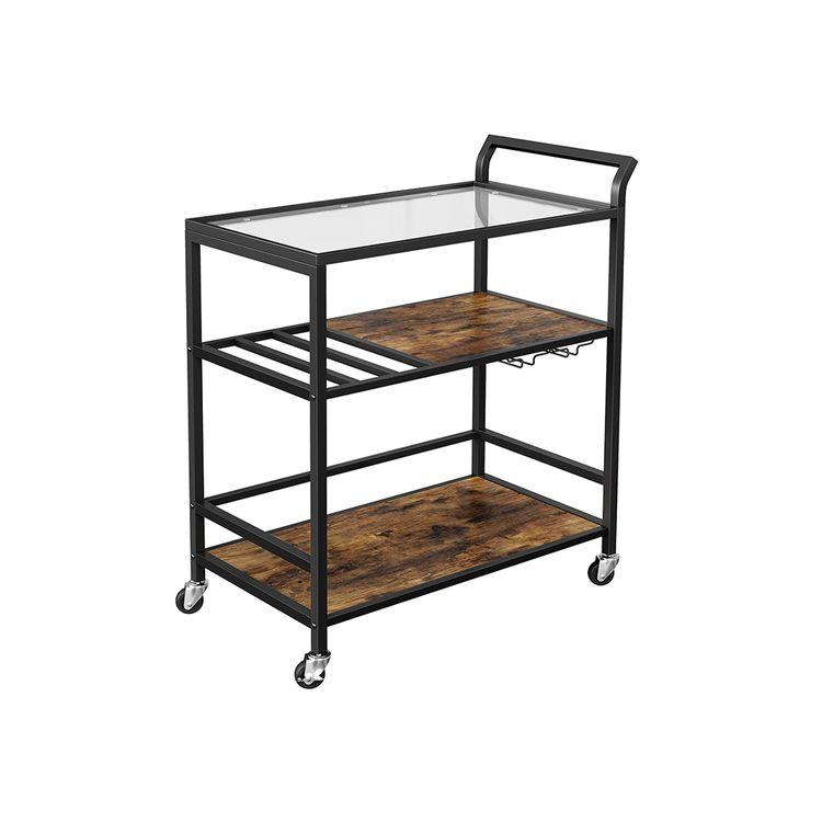Bar Cart with Storage Shelf