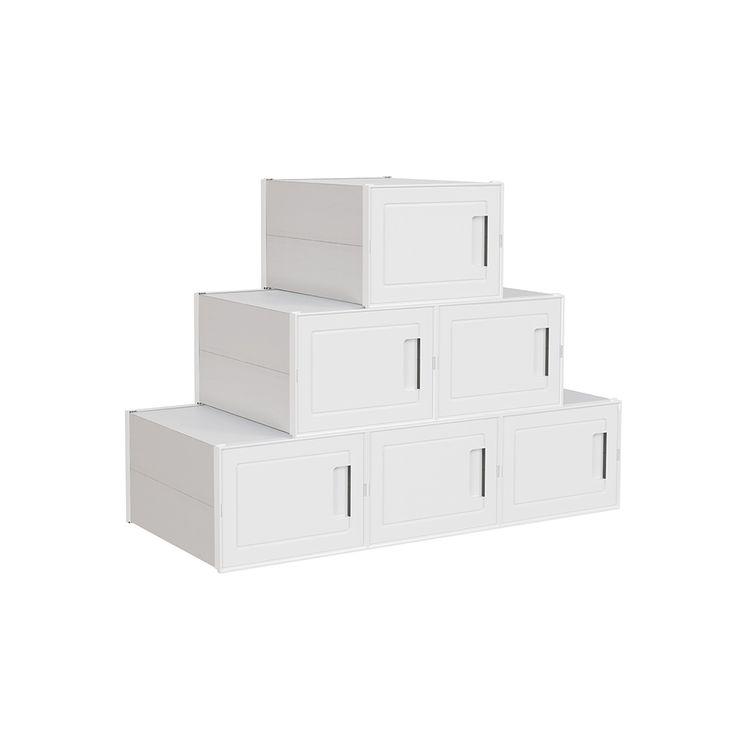 6 Plastic Shoe Boxes