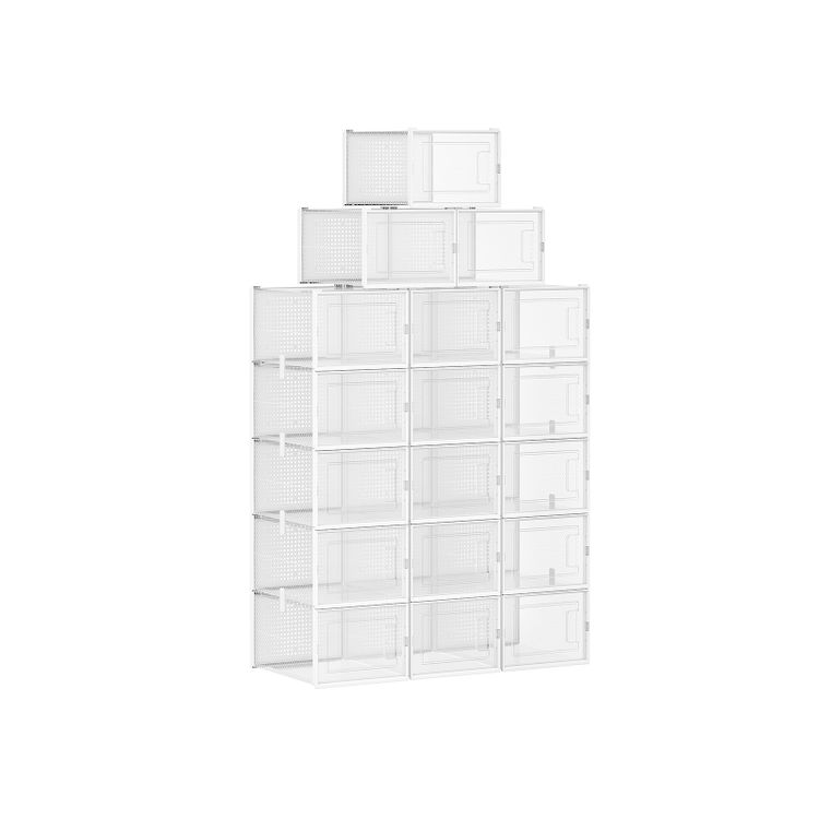 Transparent and White Shoe Boxes