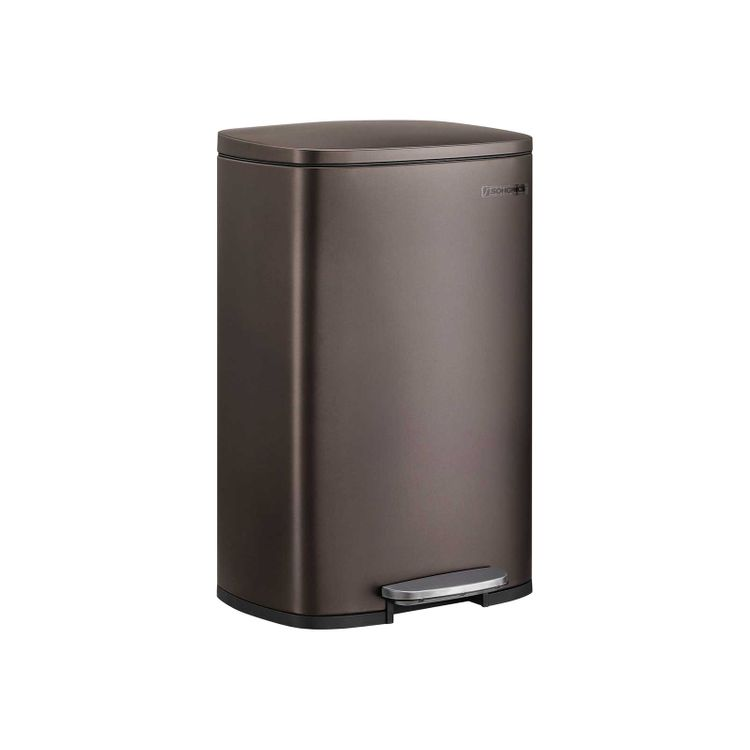 Brown Step Open Trash Can for Kitchen