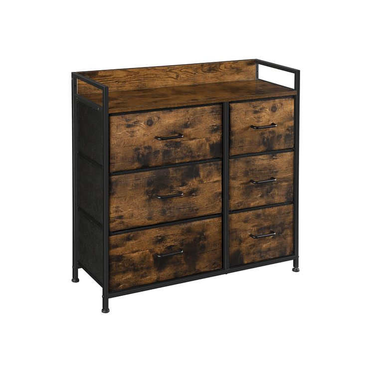 Drawer Dresser with 6 Fabric Drawers