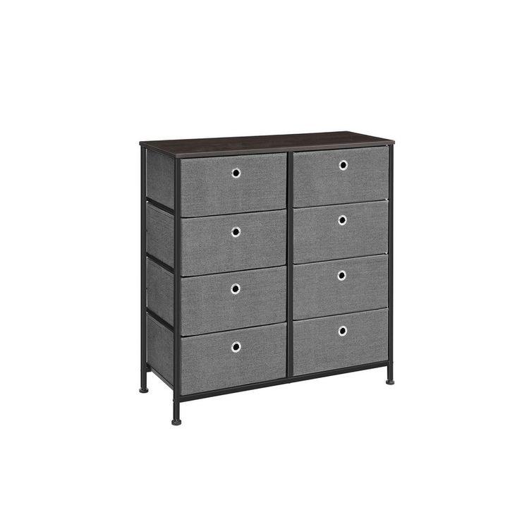 Black & Gray Free Standing Drawer Dresser
