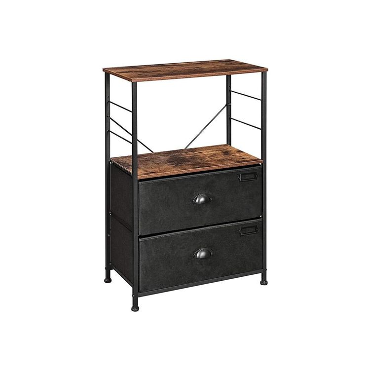 Nightstand with Fabric Drawers