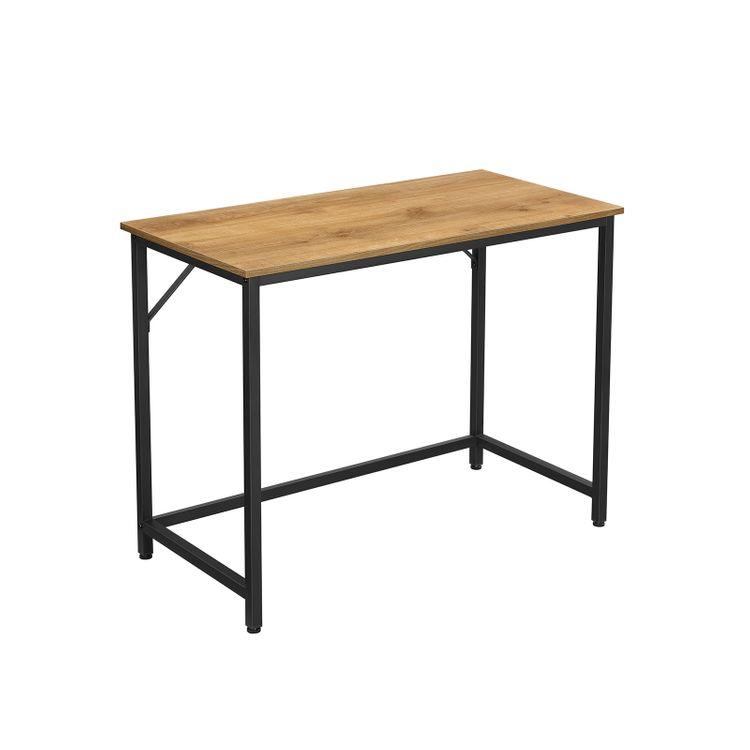 Computer Desk Honey Brown and Black