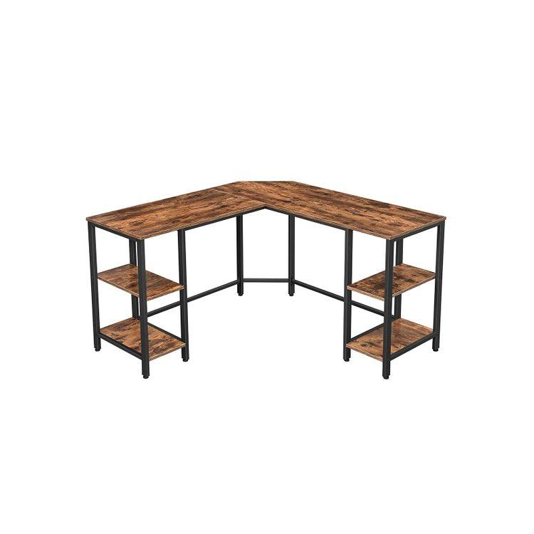 4 Shelves Computer Desk