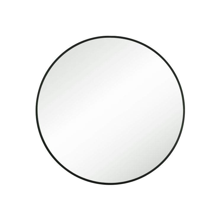 Round Wall Mirror Black