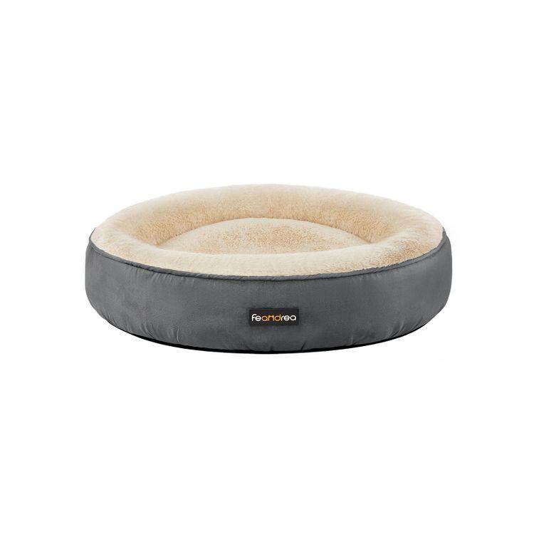 Round Dog Bed Dark Gray