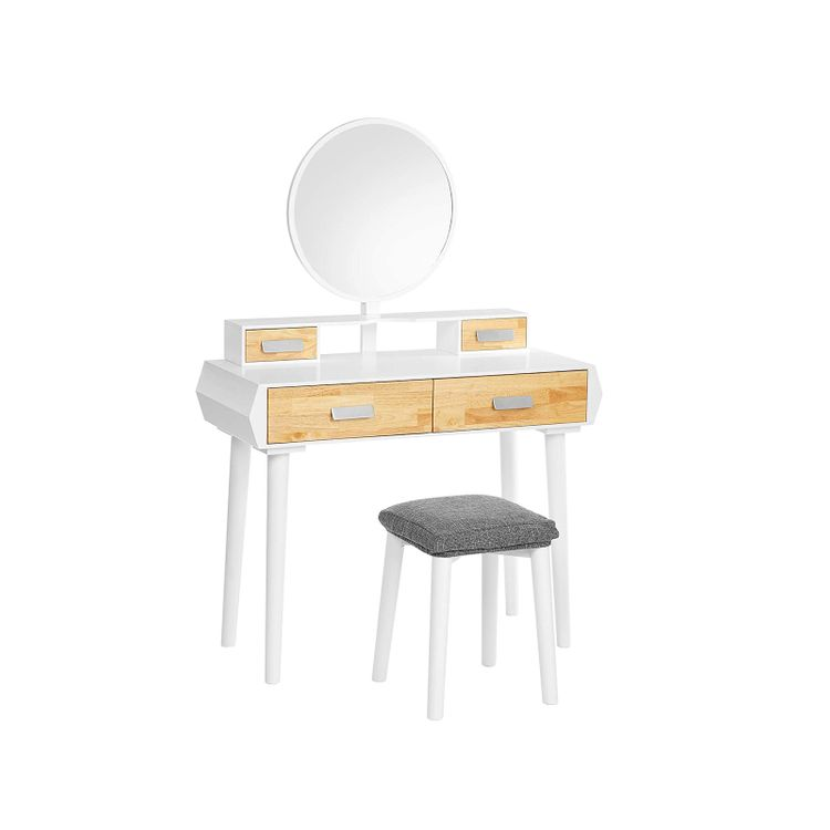 Vanity Set White and Natural Color