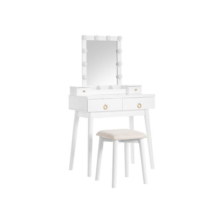 Dressing Table Set With Lights
