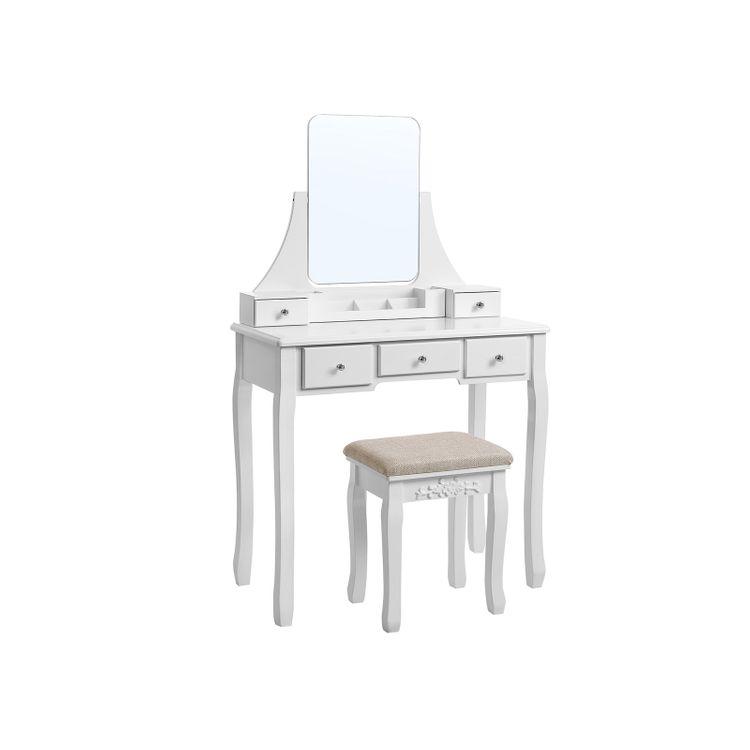 Frameless Mirror Vanity Set