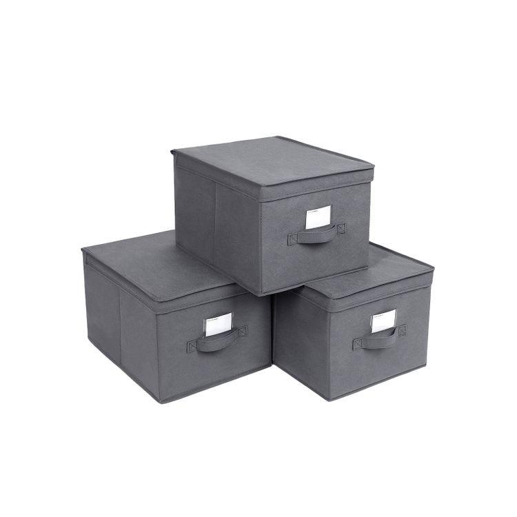 Large Grey Storage Bins