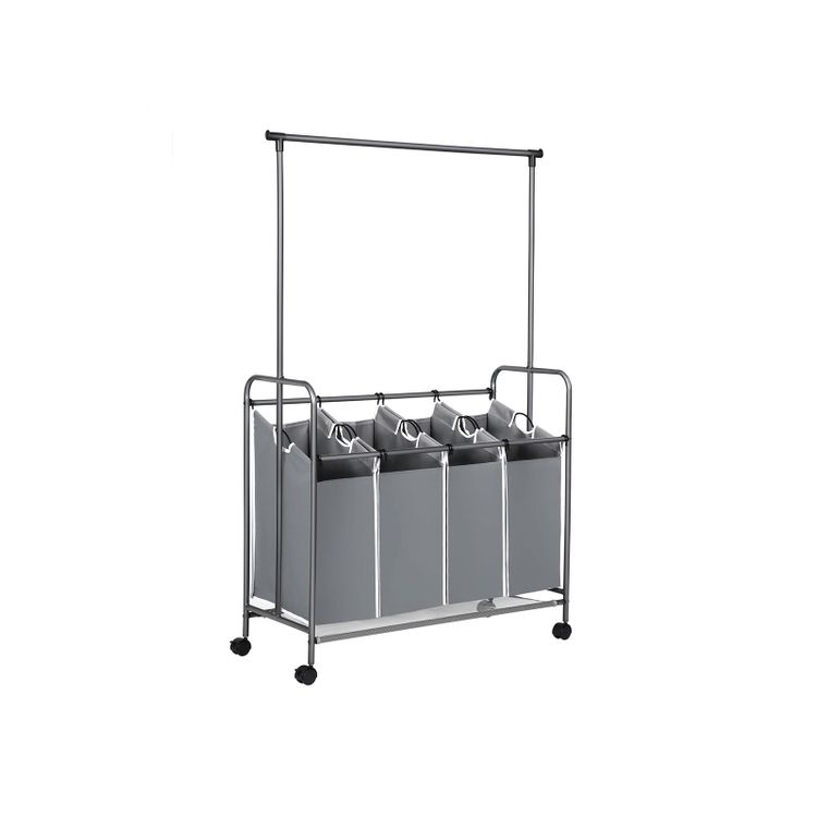 Hanging Bar Laundry Cart