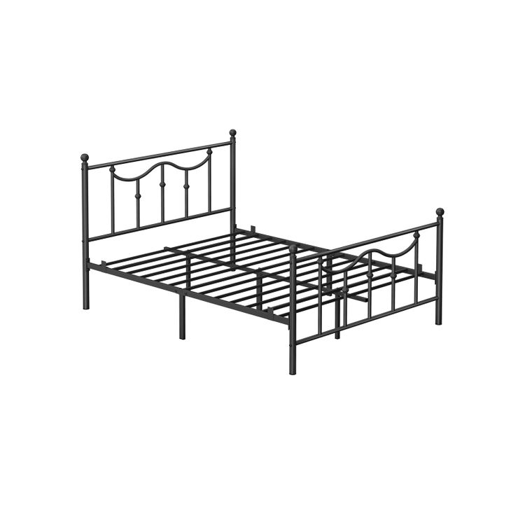 Queen Size Metal Bed Frame with Headboard