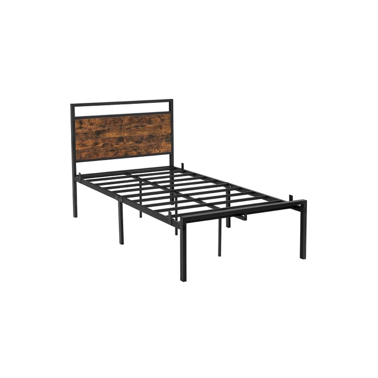 Twin Size Metal Bed Frame with Headboard
