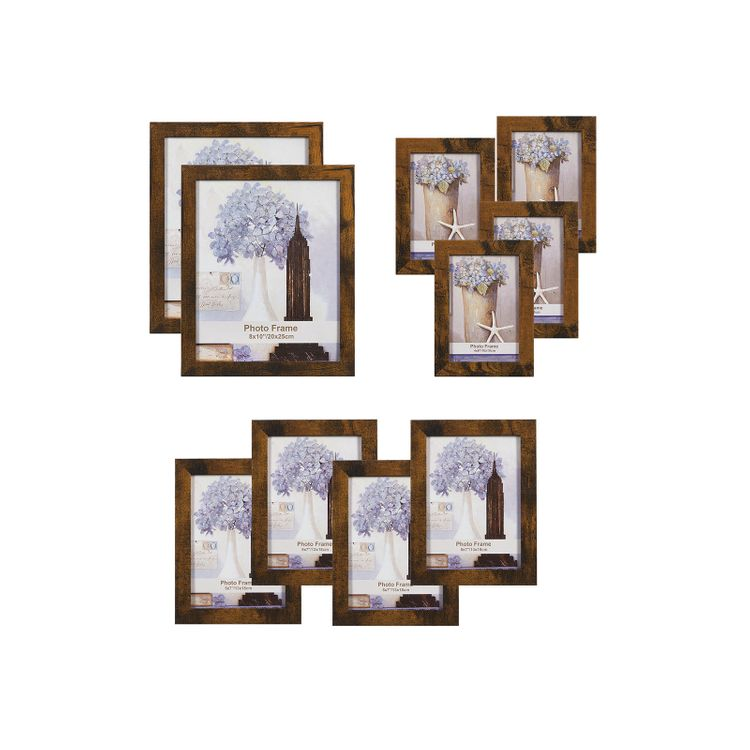 Picture Frames Rustic Brown