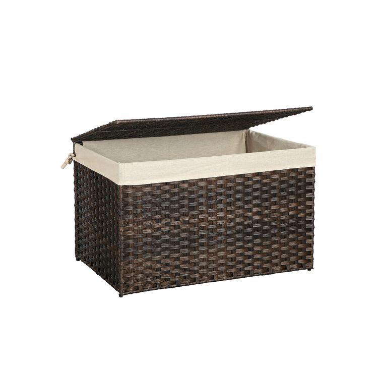 Rattan-Style Storage Basket