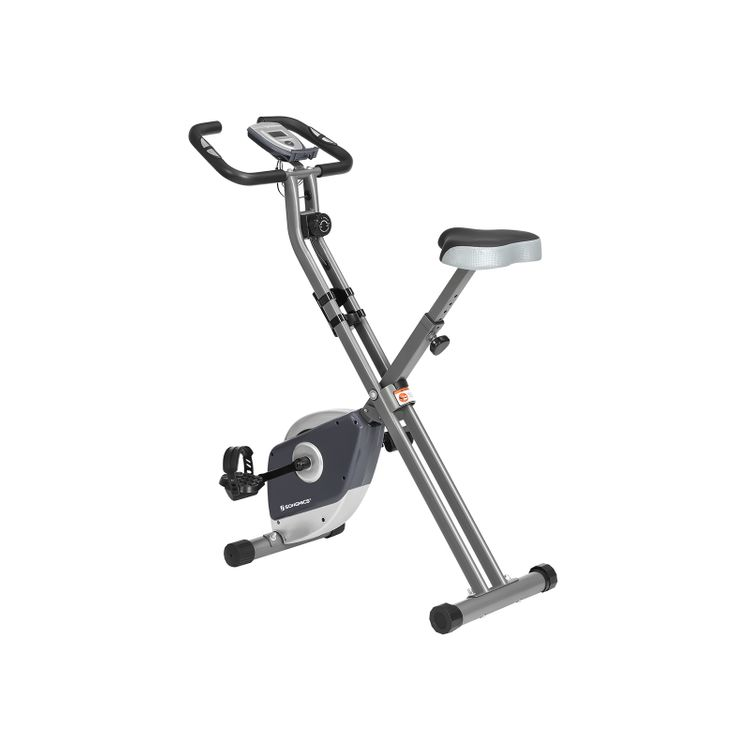 Exercise Bike Gray and Silver