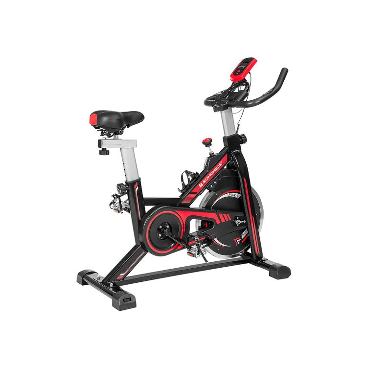 Stationary Bike Black and Red