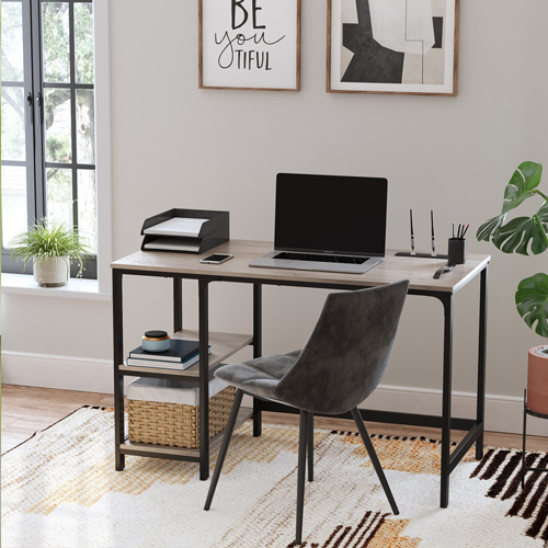 Focused on typing, surfing the net, and gaming with our space-saving computer desk.