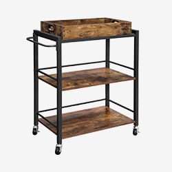 Removable Tray Kitchen Trolley