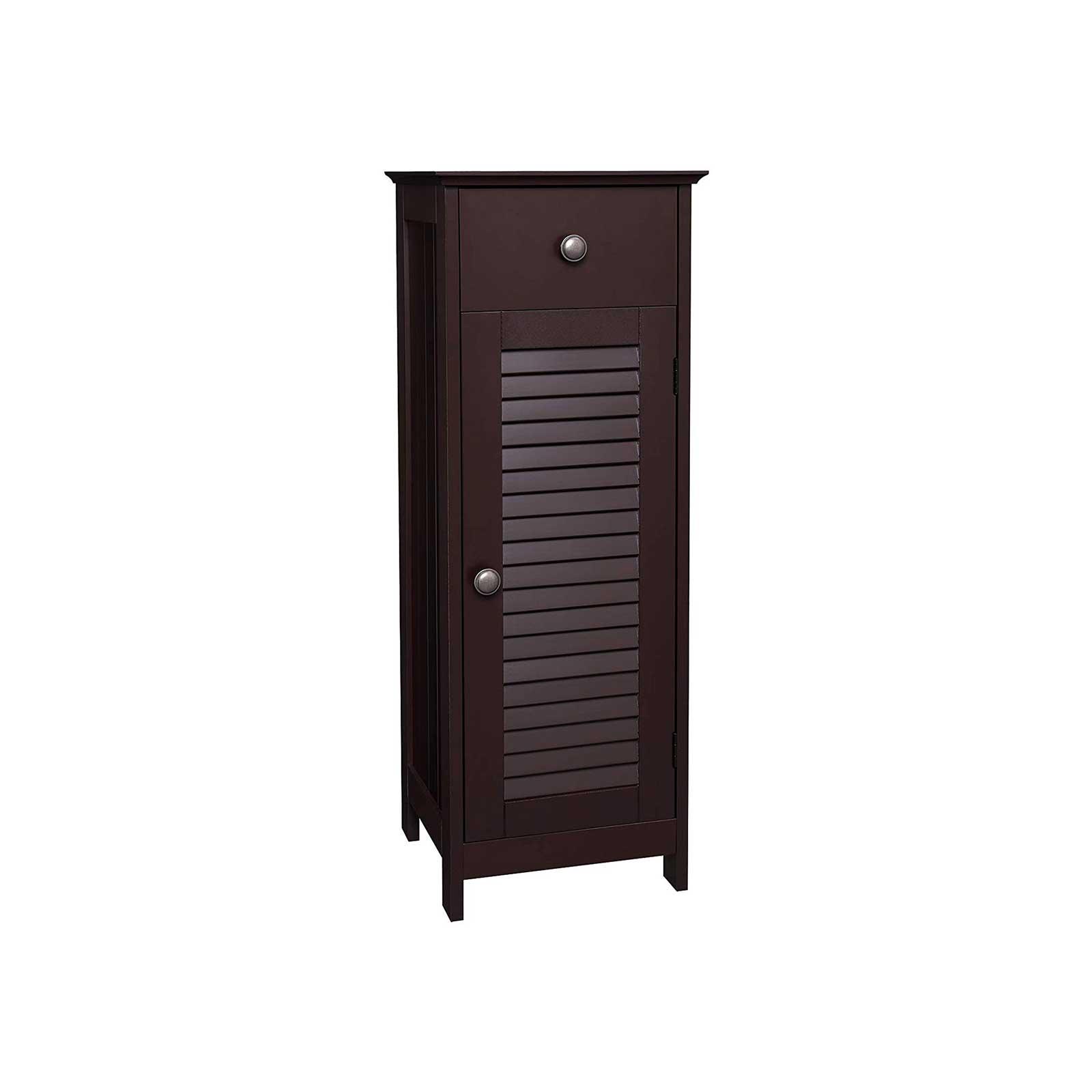 Furniture Vasagle Bathroom Floor Cabinet Storage Organizer Standing Cabinet With Drawer And Single Shutter Door Wooden Brown Ubbc43br Home Kitchen Startsolar Com Au
