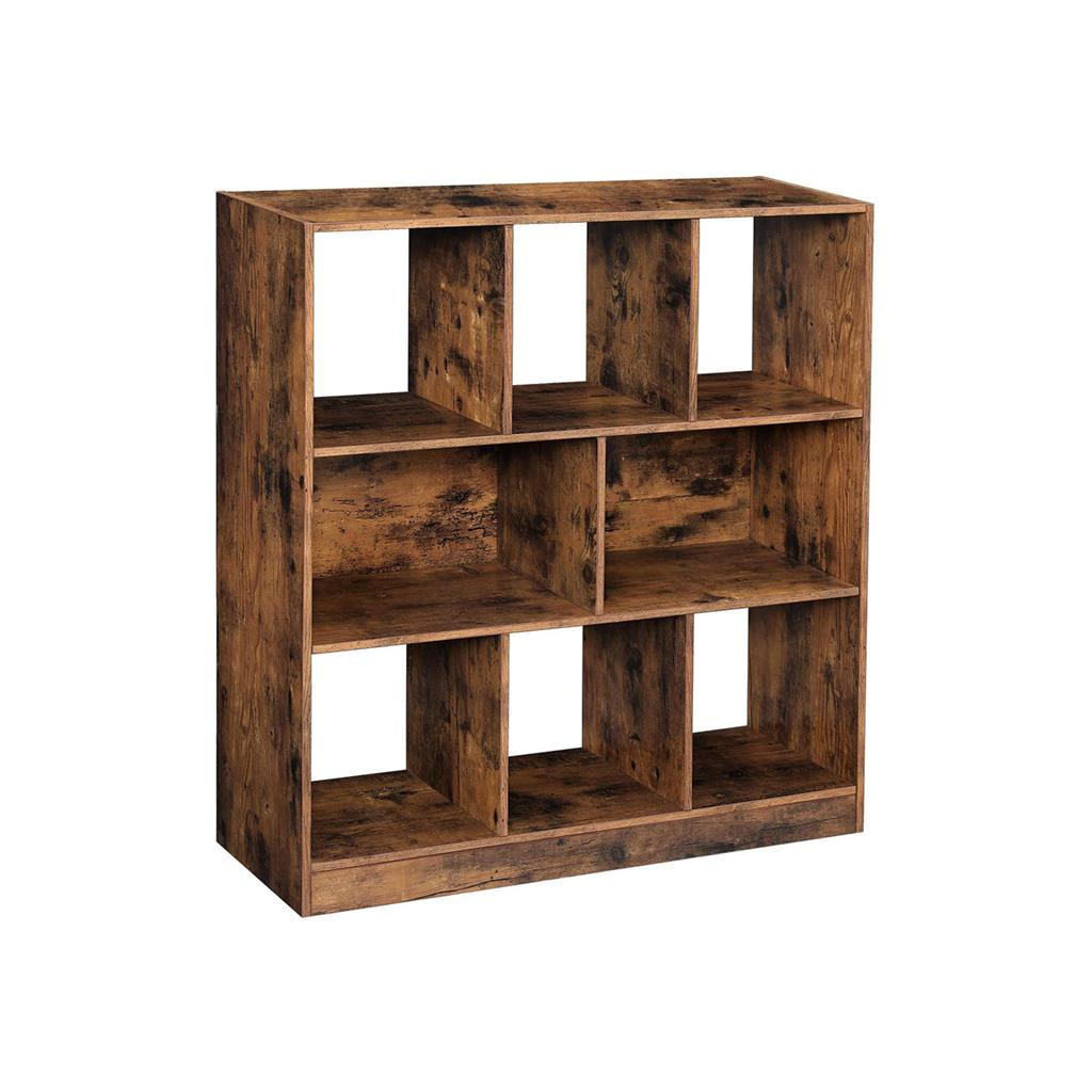 Open Shelves Wooden Bookcase