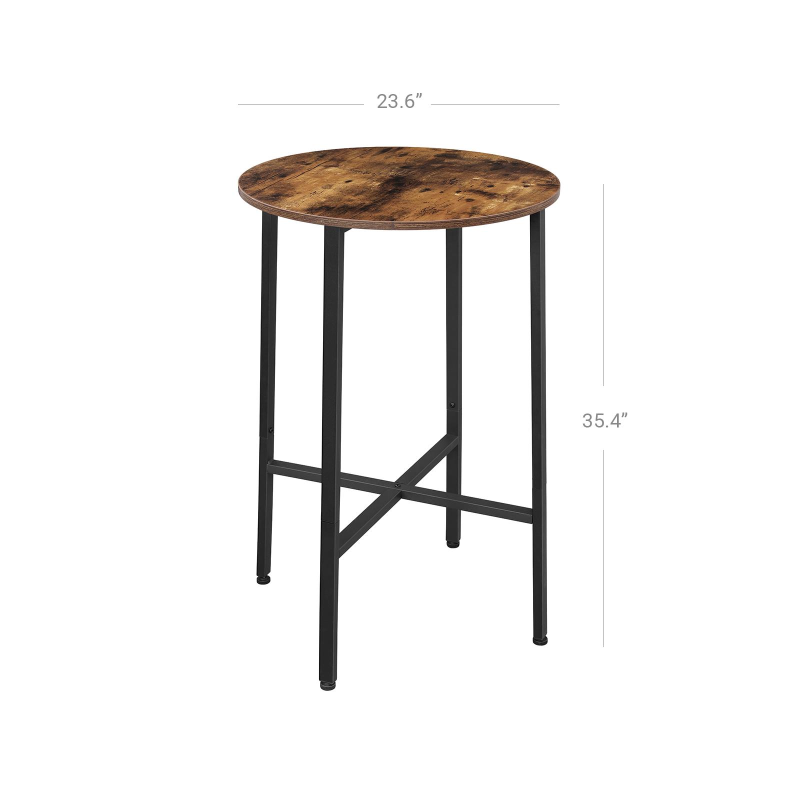 vasagle alinru bar table dining table hight pub table