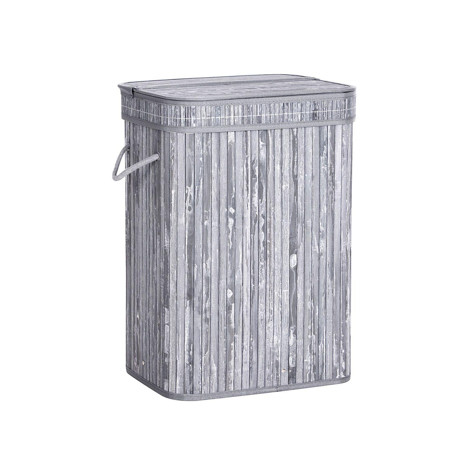 Bamboo Gray Laundry Hamper