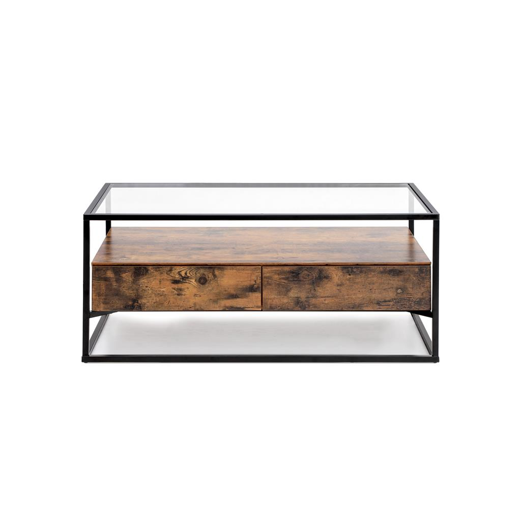Glass Top Coffee Table Coffee Table Vasagle By Songmics