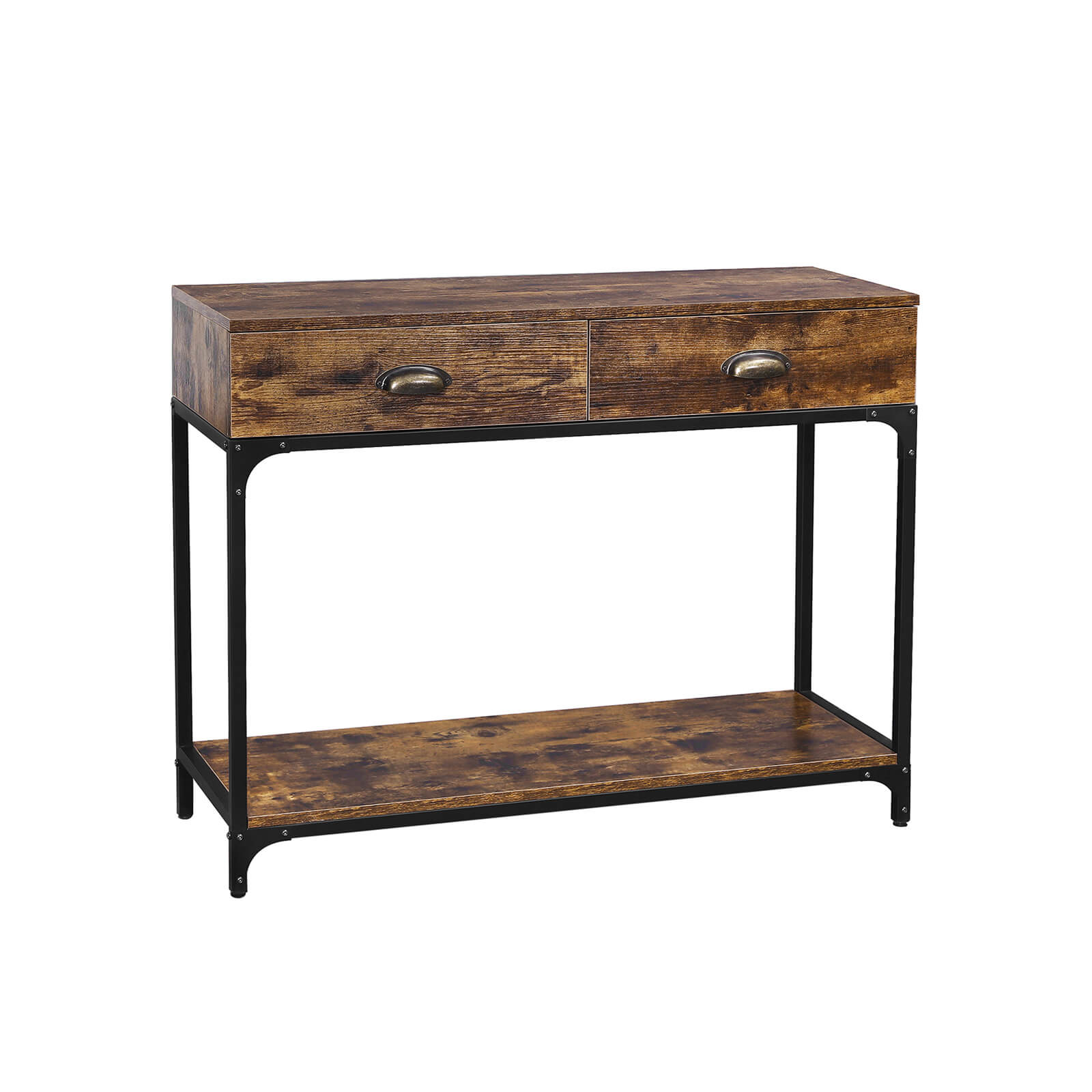 Metal Handles Console Table