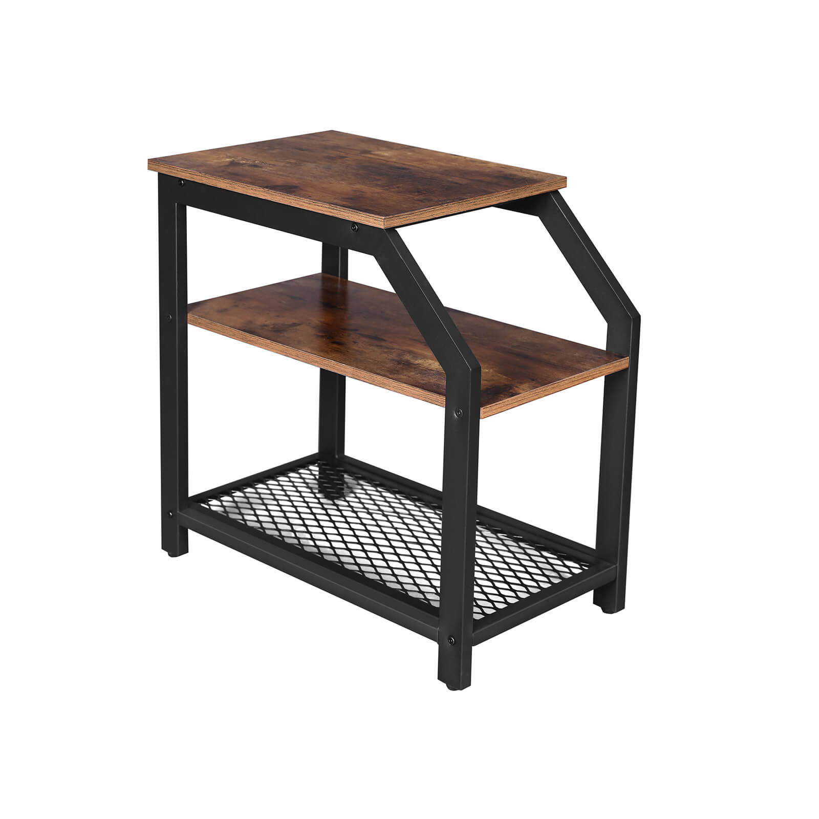 - 3-Tier Industrial Side Table - Side Table VASAGLE By SONGMICS
